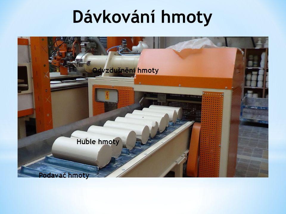 Dávkování hmoty Podavač hmoty Huble hmoty Odvzdušnění hmoty