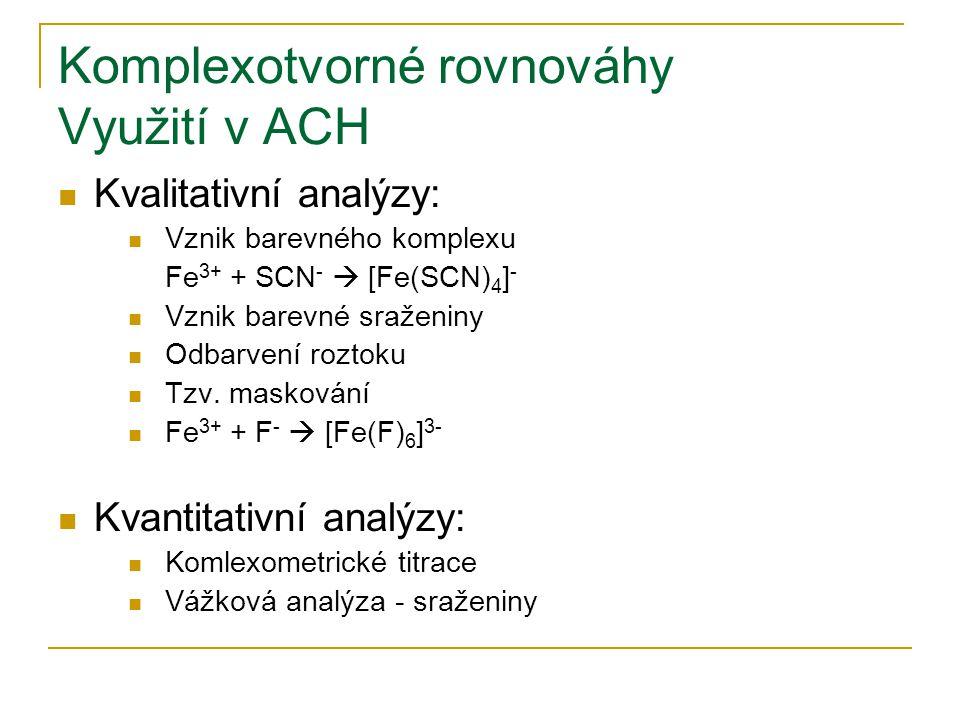 Gravimetrie Příklady srážedel Organická  8-hydroxychinolin (Ag, Bi, Fe, Ge, Mg, Zn)  Diacetyldioxim (Čugajevovo činidlo) (Ni, Pd)  Kopferon (Bi, Sb, Fe, Ti, Al, Zr)