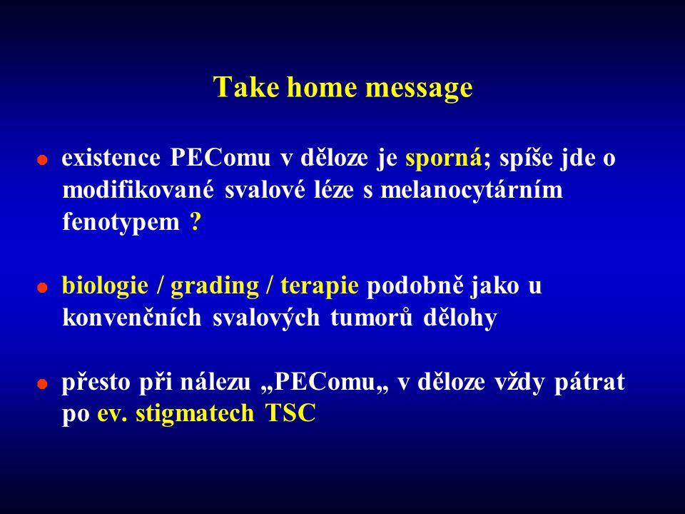  existence PEComu v děloze je sporná; spíše jde o modifikované svalové léze s melanocytárním fenotypem .