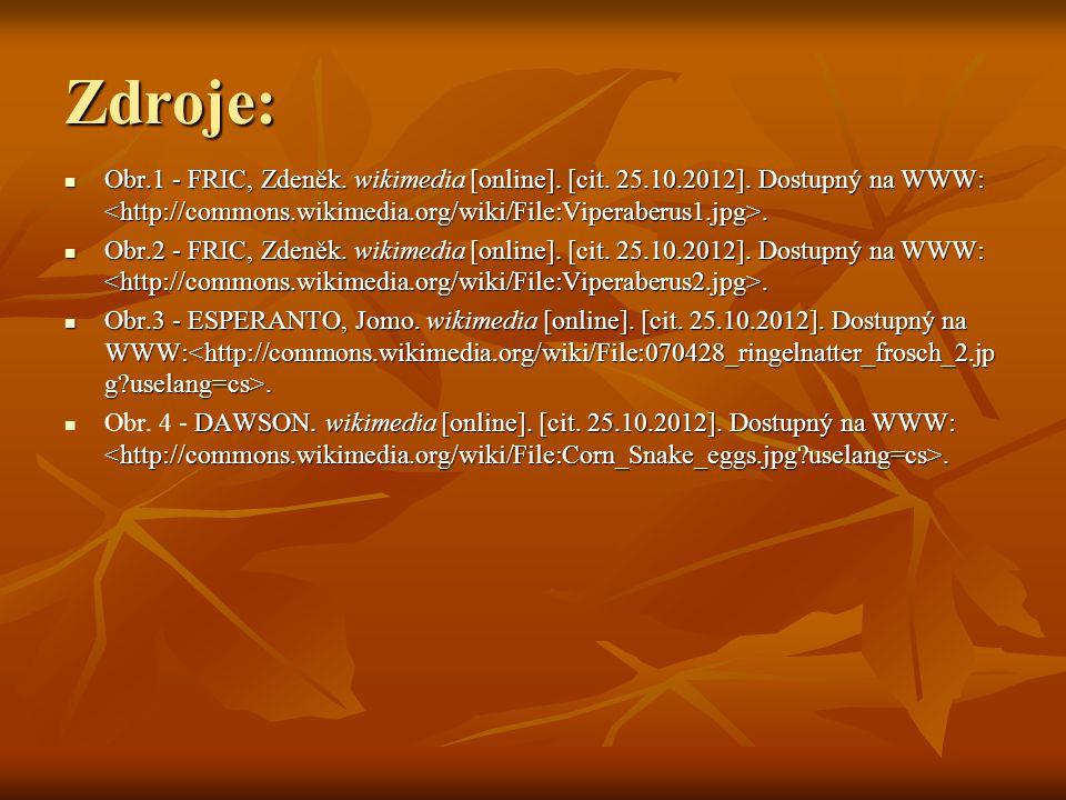 Zdroje: Obr.1 - FRIC, Zdeněk. wikimedia [online]. [cit. 25.10.2012]. Dostupný na WWW:. Obr.1 - FRIC, Zdeněk. wikimedia [online]. [cit. 25.10.2012]. Do