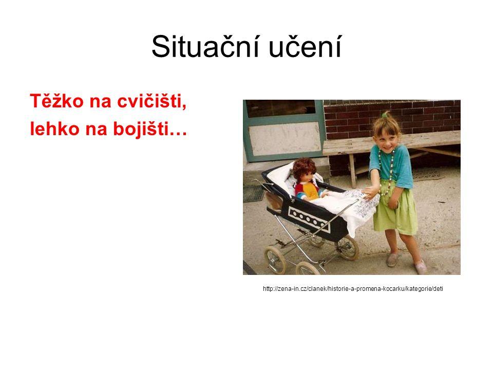 Situační učení Těžko na cvičišti, lehko na bojišti… http://zena-in.cz/clanek/historie-a-promena-kocarku/kategorie/deti