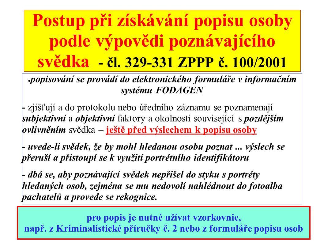 ÚŘEDNÍ POPIS (čl.331 ZPPP č.