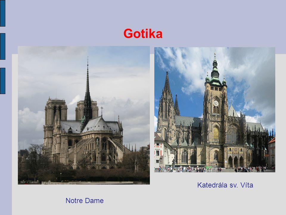 Gotika Notre Dame Katedrála sv. Víta