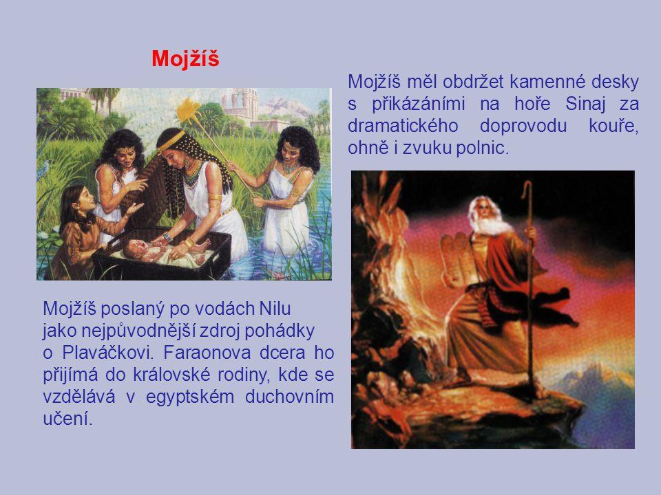 Mojžíš Mojžíš poslaný po vodách Nilu jako nejpůvodnější zdroj pohádky o Plaváčkovi. Faraonova dcera ho přijímá do královské rodiny, kde se vzdělává v