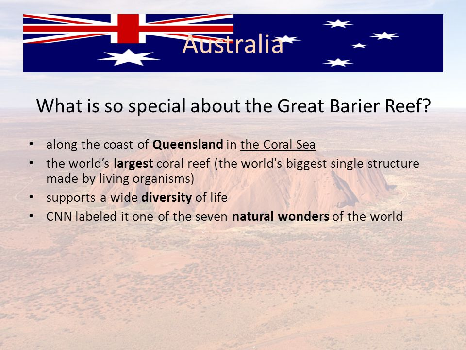 What is so special about the Great Barier Reef.