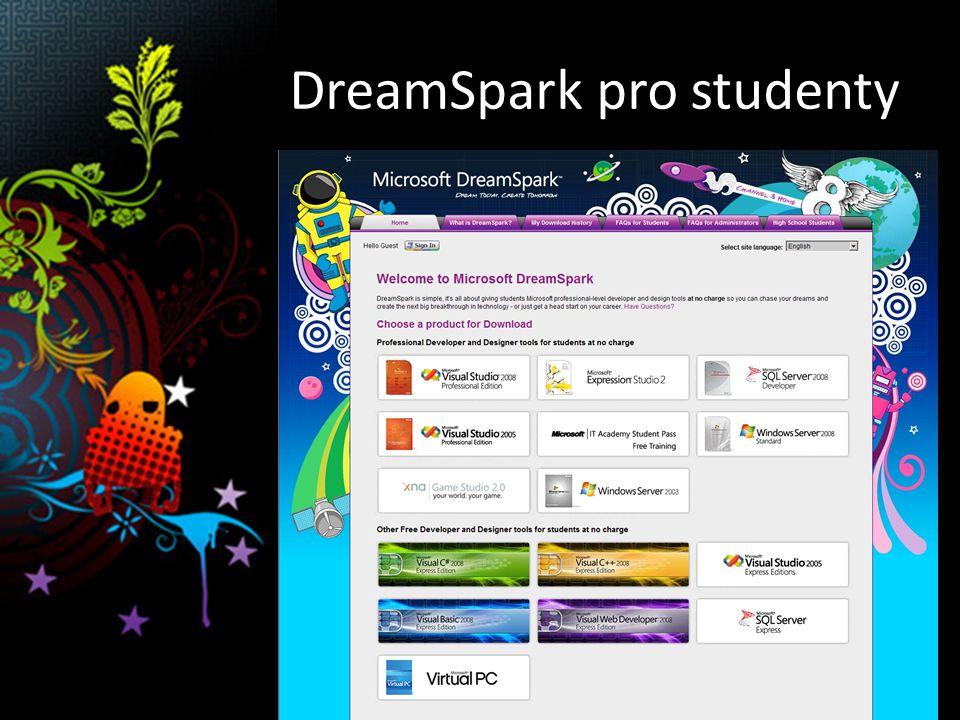 DreamSpark pro studenty