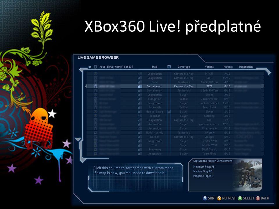 XBox360 Live! předplatné