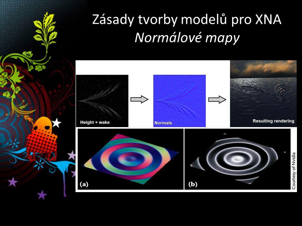 Zásady tvorby modelů pro XNA Normálové mapy