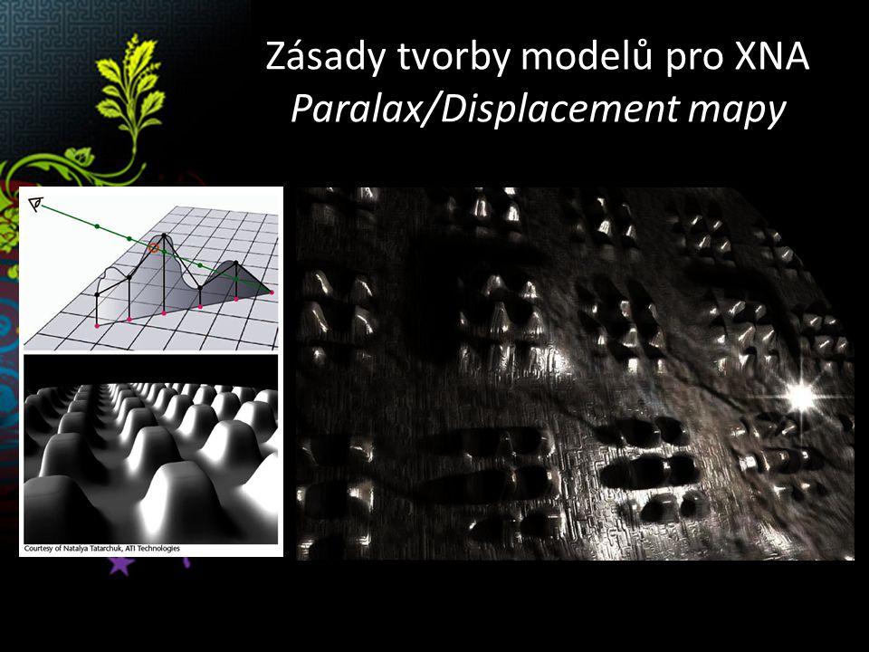 Zásady tvorby modelů pro XNA Paralax/Displacement mapy