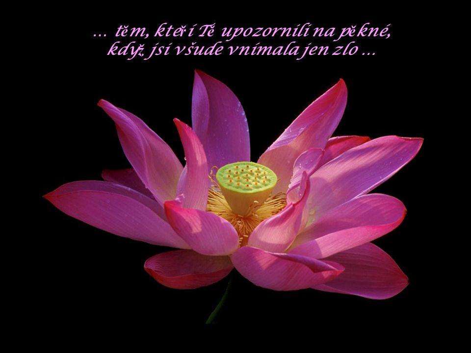 … t ě m, kte ř í T ě pot ě šili, kdy ž jsi to pot ř ebovala …