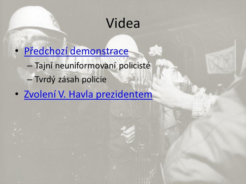Videa Předchozí demonstrace – Tajní neuniformovaní policisté – Tvrdý zásah policie Zvolení V.