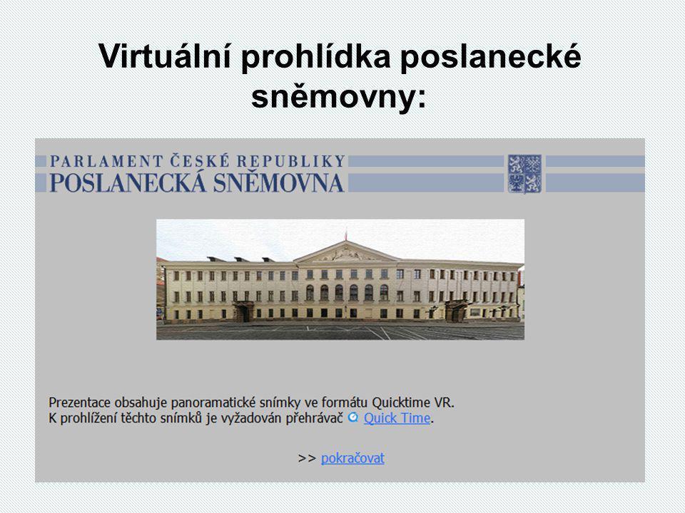 Virtuální prohlídka poslanecké sněmovny: