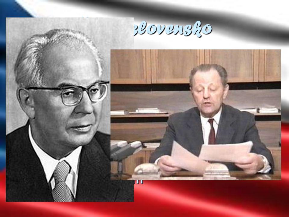 Č eskoslovensko  1948 komunisté uchvacují moc za pomoci státního převratu  Společnost je zastrašována stalinovskými praktikami  Režim v rukou Gusta