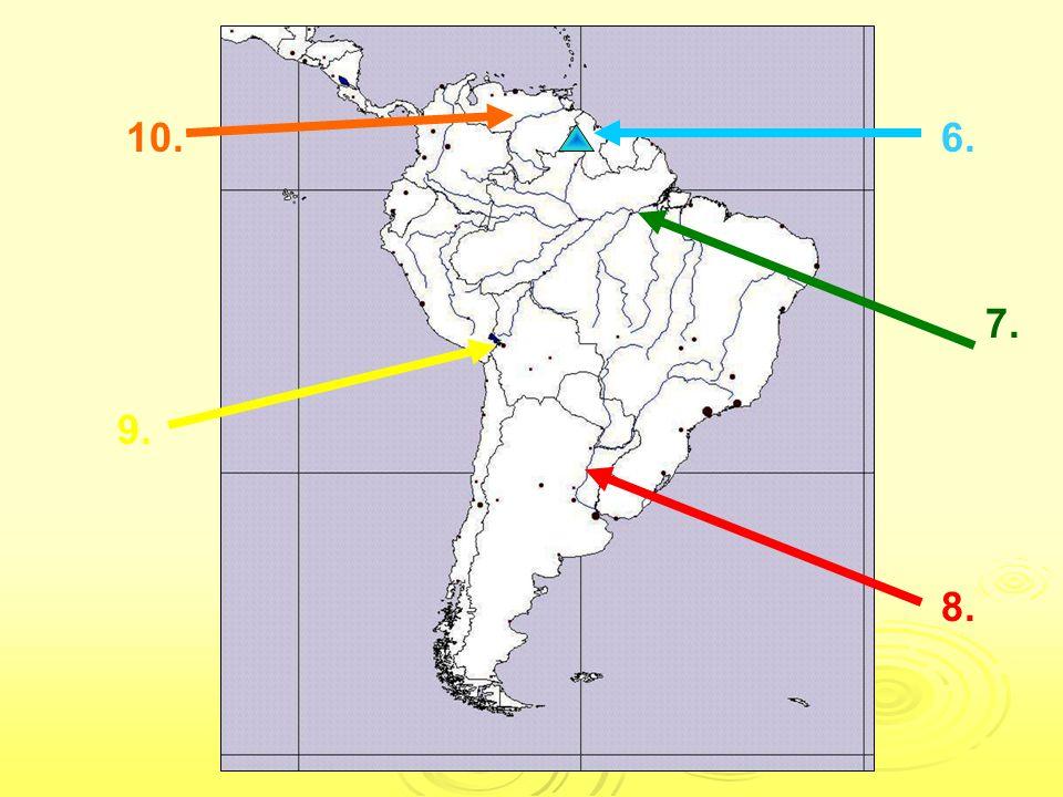 Odpovědi: Severní Amerika: 1.Hořejší jezero 2. Niagárské vodopády 2.