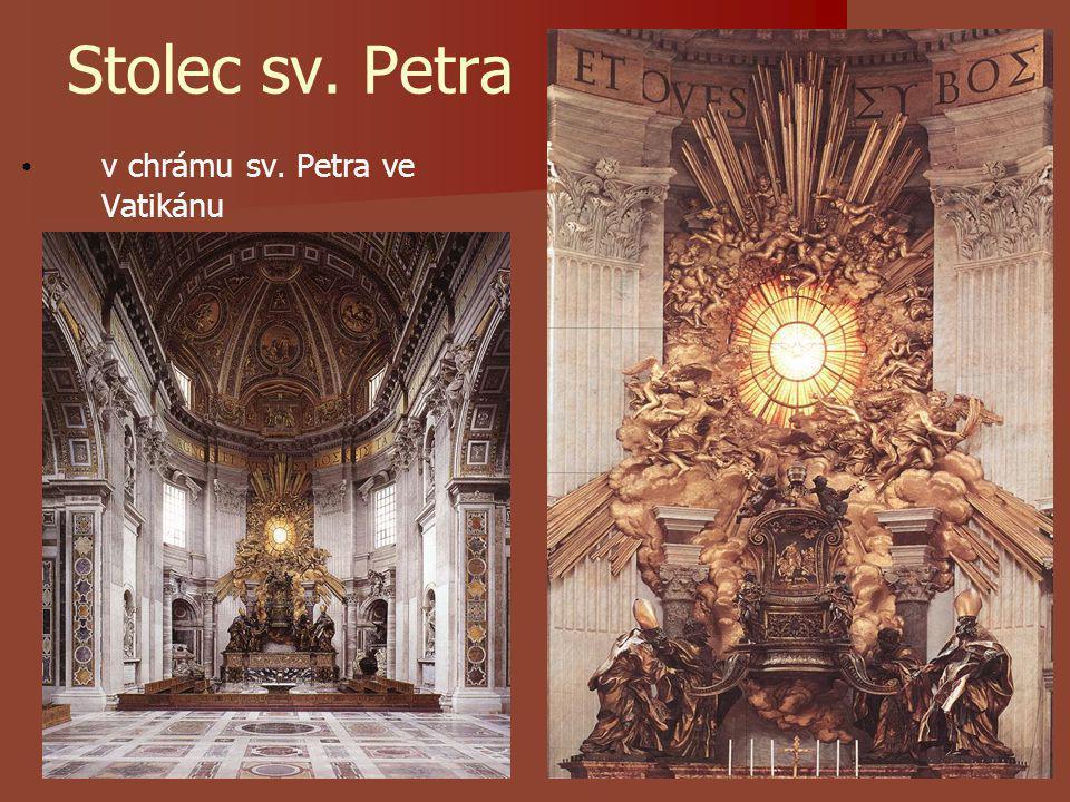 Stolec sv. Petra v chrámu sv. Petra ve Vatikánu