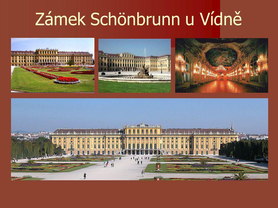 Zámek Schönbrunn u Vídně