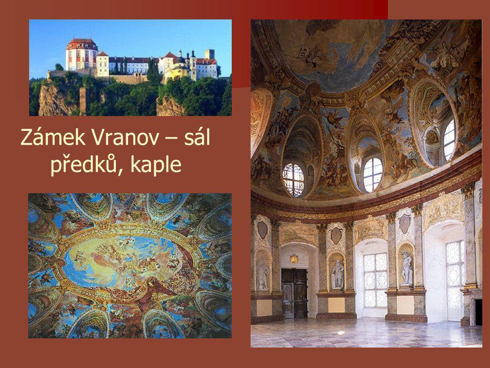 Zámek Vranov – sál předků, kaple