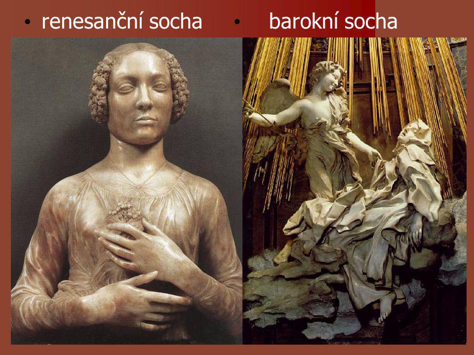 renesanční socha barokní socha