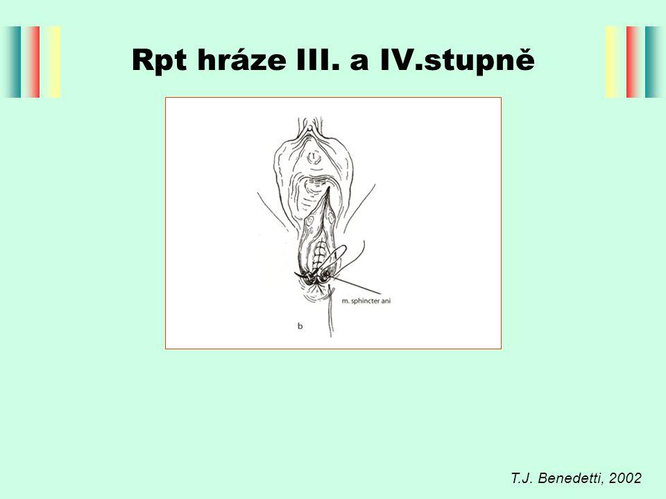 Rpt hráze III. a IV.stupně T.J. Benedetti, 2002