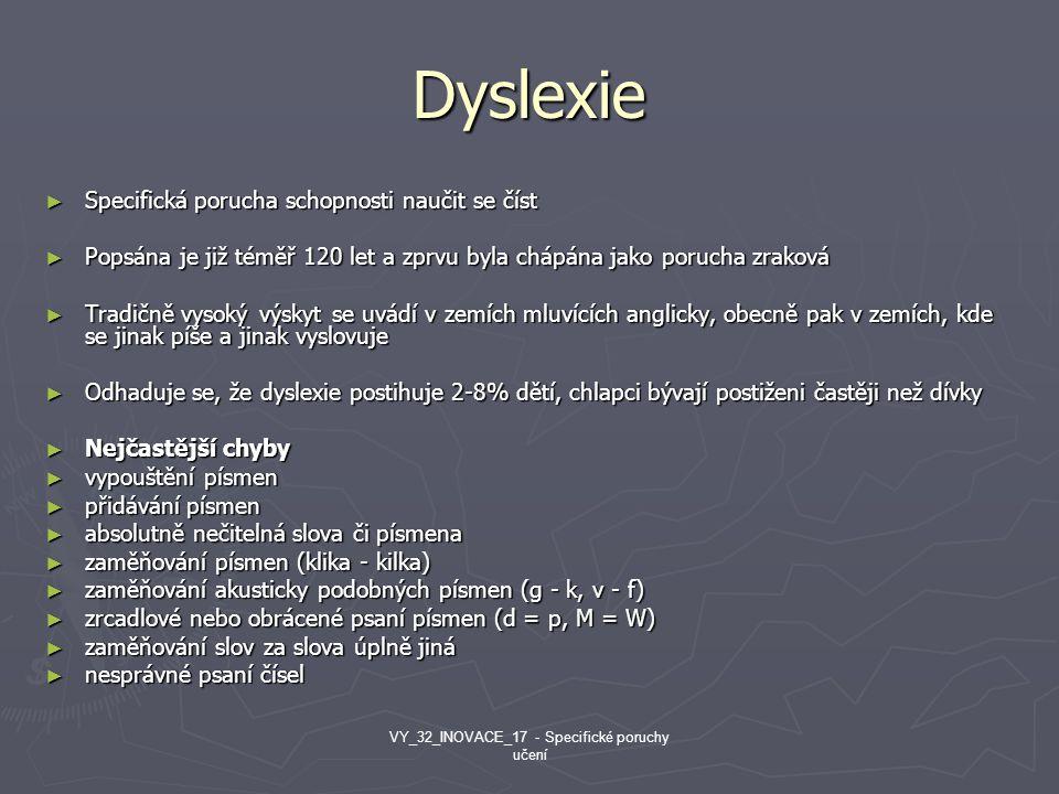 Dyslexie ► Specifická porucha schopnosti naučit se číst ► Popsána je již téměř 120 let a zprvu byla chápána jako porucha zraková ► Tradičně vysoký výs