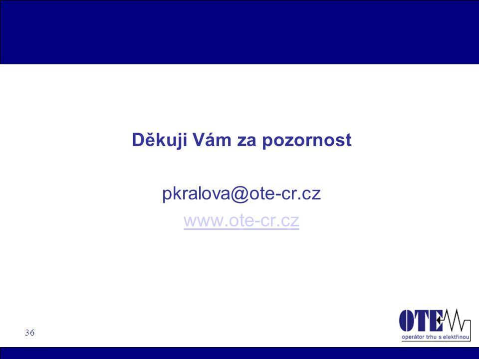 36 Děkuji Vám za pozornost pkralova@ote-cr.cz www.ote-cr.cz
