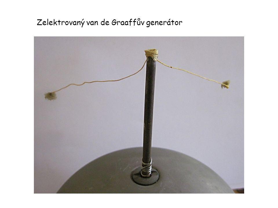 Zelektrovaný van de Graaffův generátor