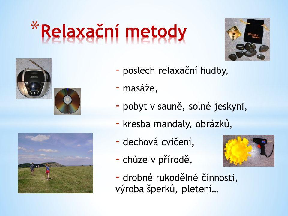 A jak relaxujete vy?