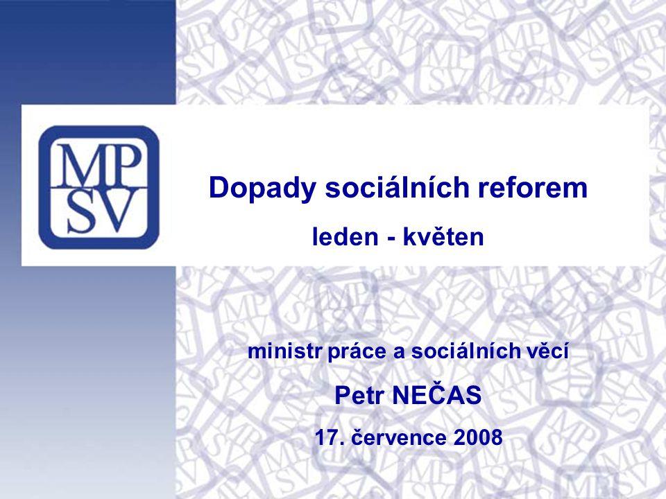 ministr práce a sociálních věcí Petr NEČAS 17.