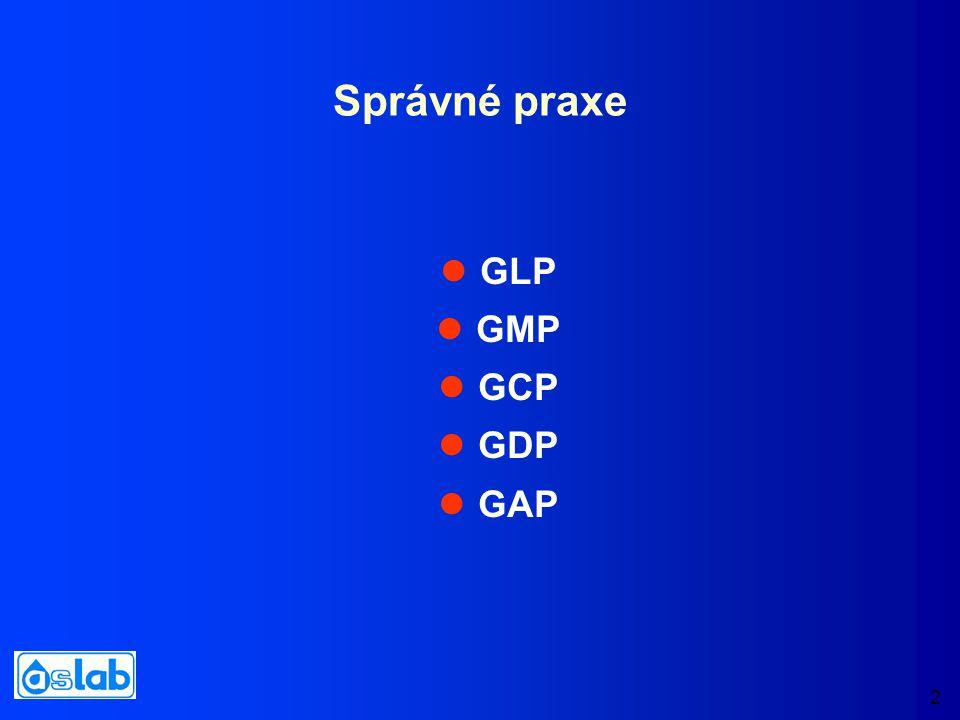 2 Správné praxe GLP GMP GCP GDP GAP