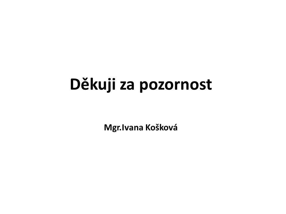 Děkuji za pozornost Mgr.Ivana Košková