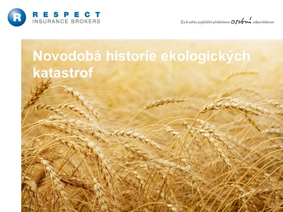 22 Řízení ekologických rizik Novodobá historie ekologických katastrof