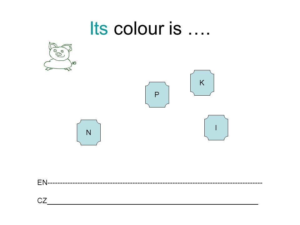 Its colour is …. K P I N EN-------------------------------------------------------------------------------------- CZ__________________________________