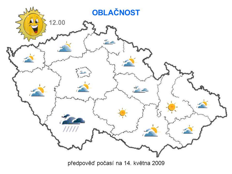 předpověď počasí na 14. května 2009 12.00 OBLAČNOST