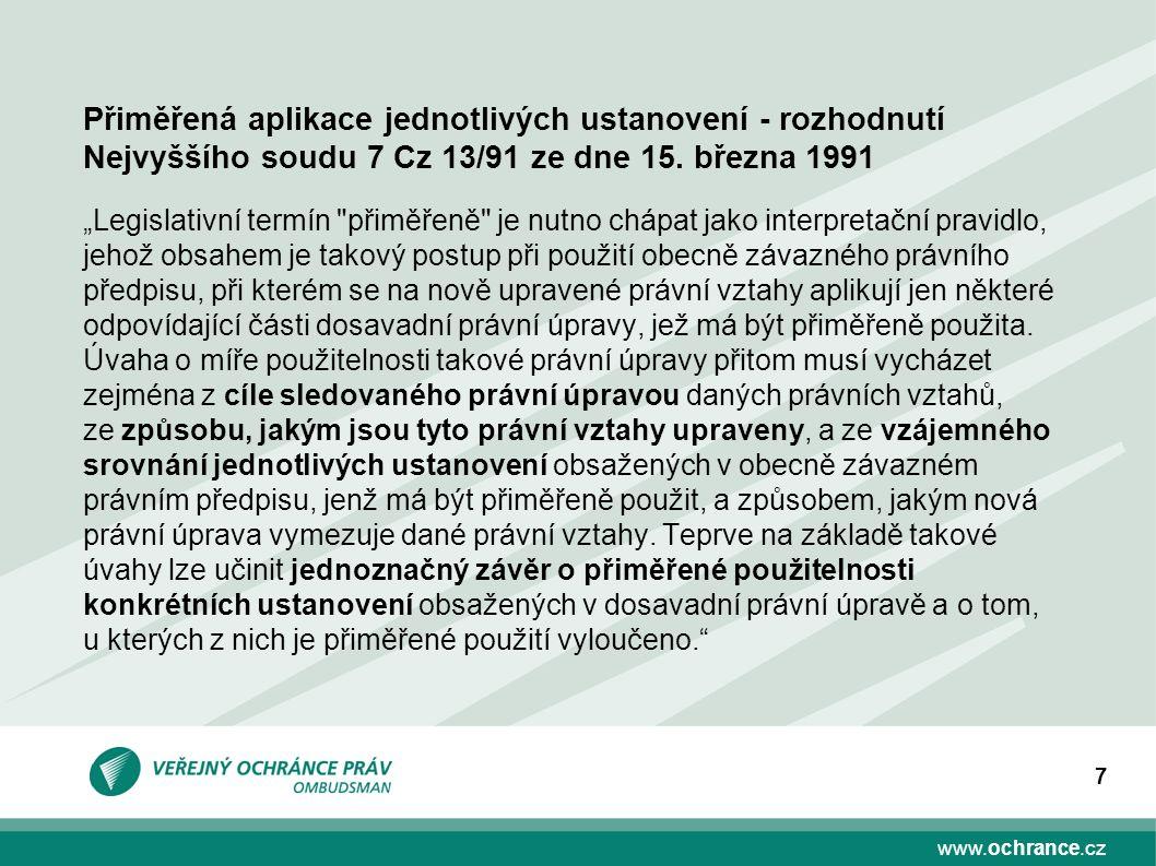 "www.ochrance.cz 7 ""Legislativní termín"