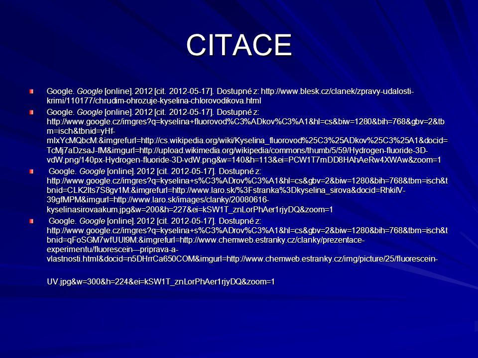 CITACE Google.Google [online]. 2012 [cit. 2012-05-17].