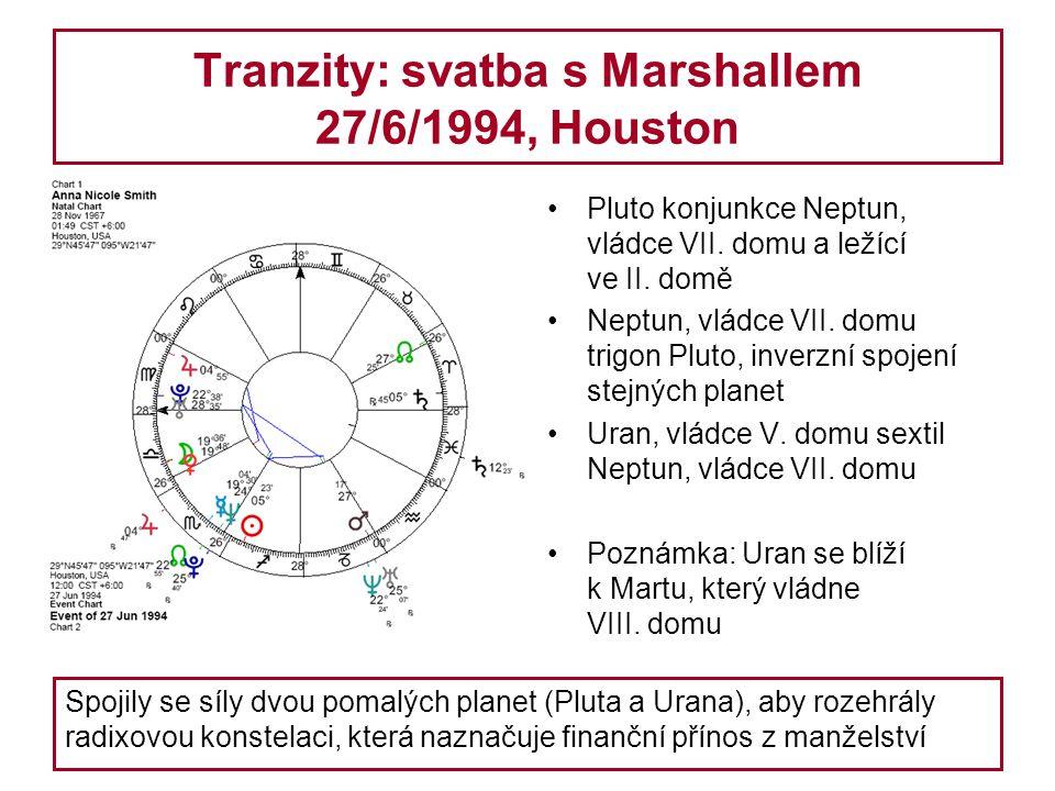 Tranzity: svatba s Marshallem 27/6/1994, Houston Pluto konjunkce Neptun, vládce VII.