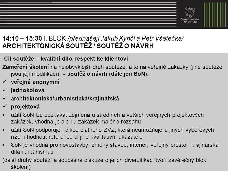 Právní rámec soutěže Zákon č.