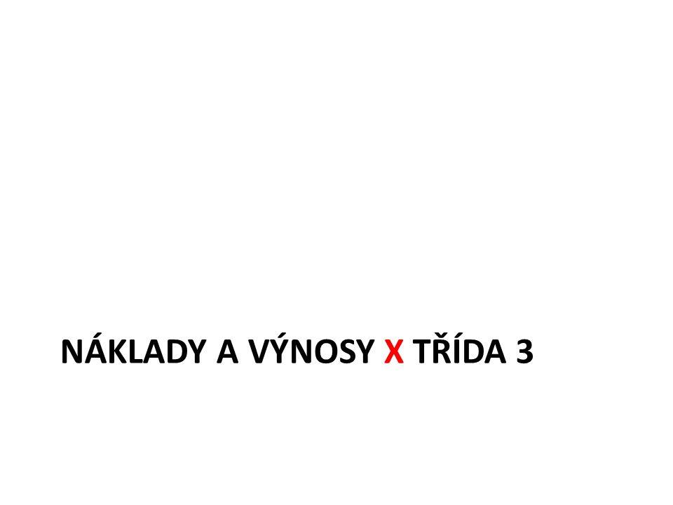 NÁKLADY A VÝNOSY X TŘÍDA 3