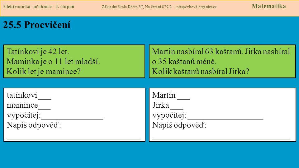 25.5 Procvičení Elektronická učebnice - I.