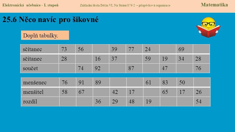 25.6 Něco navíc pro šikovné Elektronická učebnice - I.