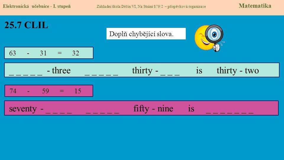 25.7 CLIL Elektronická učebnice - I.