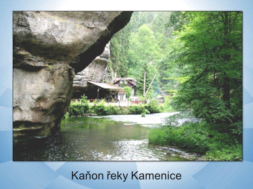 Kaňon řeky Kamenice