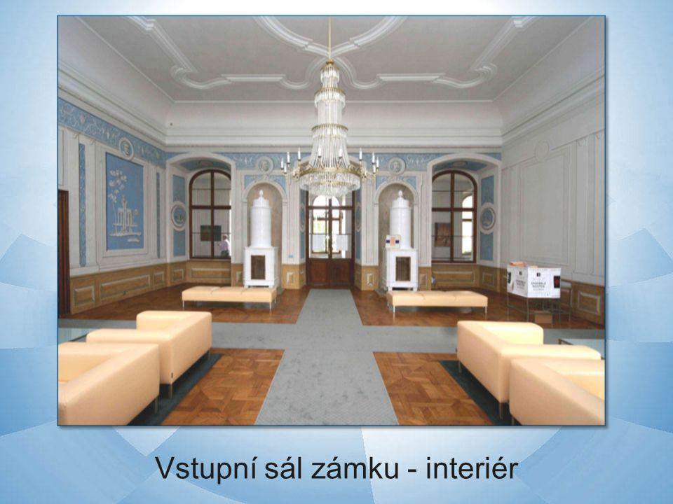 Vstupní sál zámku - interiér