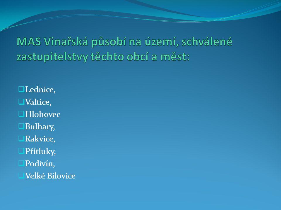  Lednice,  Valtice,  Hlohovec  Bulhary,  Rakvice,  Přítluky,  Podivín,  Velké Bílovice