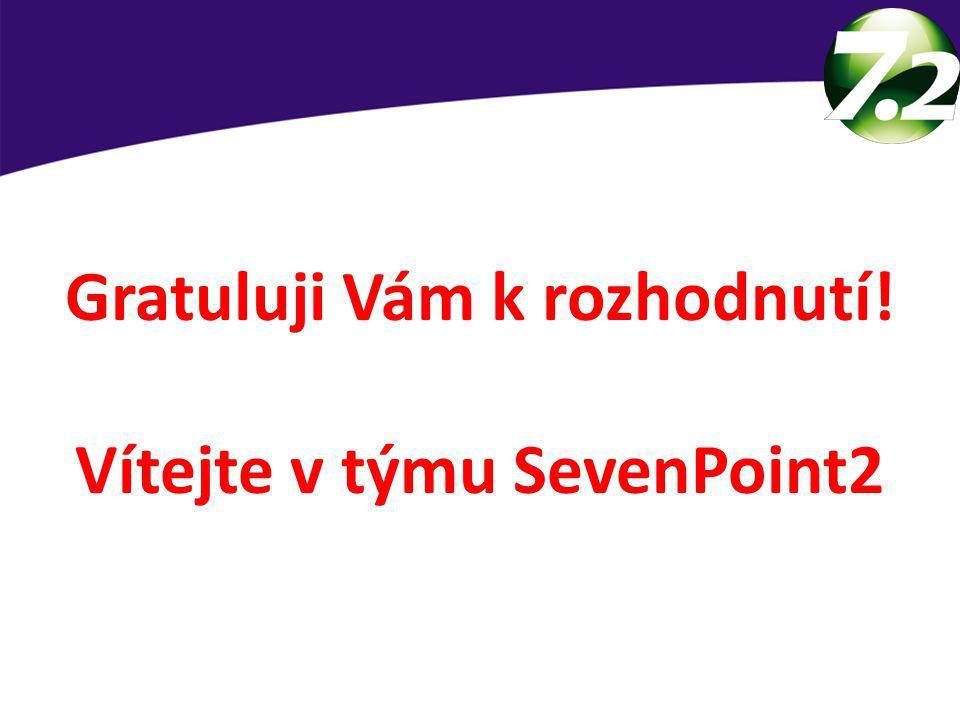 Gratuluji Vám k rozhodnutí! Vítejte v týmu SevenPoint2