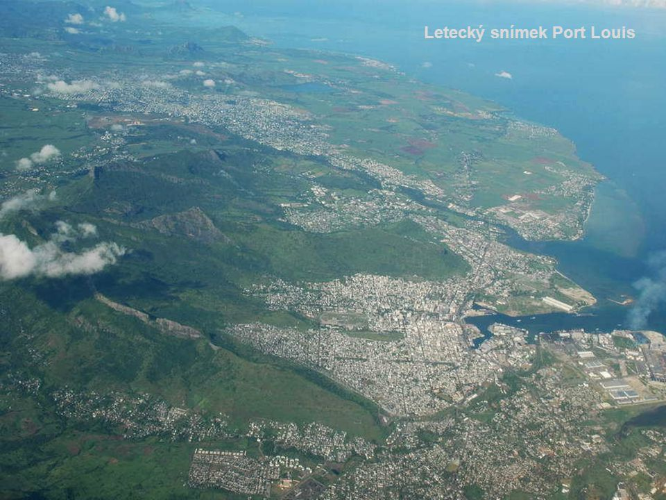 Letecký snímek Port Louis