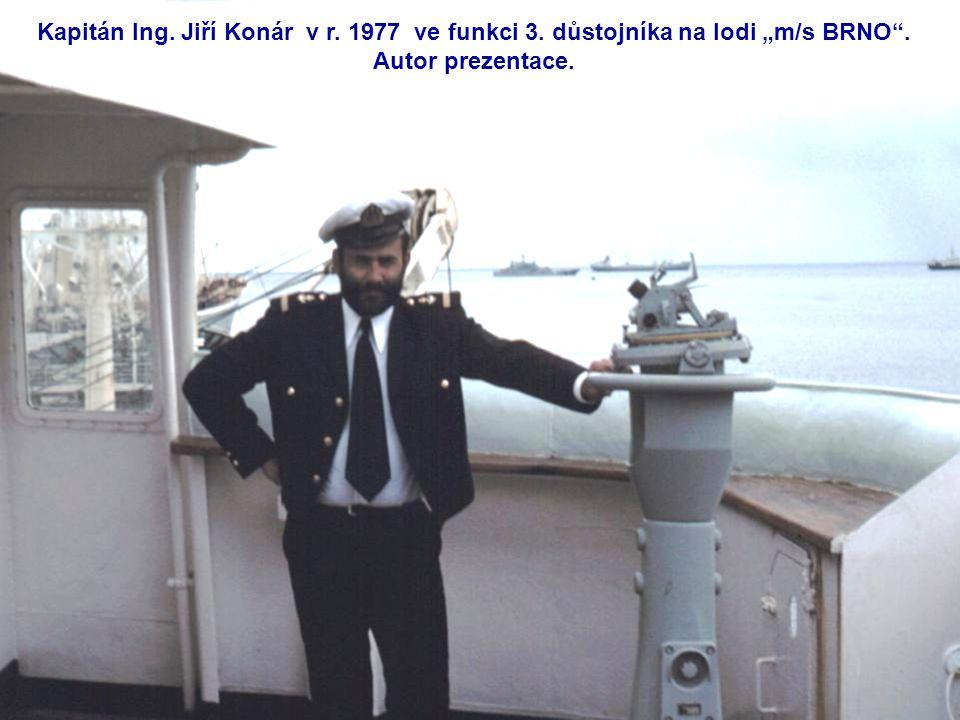 Loď m/s BRNO d = 156,60 m š = 20,40 m DWT = 14100 mt