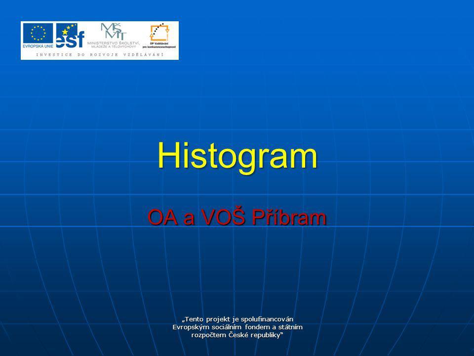 """hranice intervalů nini xD1xD1 xH1xH1 ………………………...xDkxDk xHkxHk n i … četnost v intervalu i i = 1 … k k … počet intervalů x D i … dolní hranice i - tého intervalu x H i … horní hranice i - tého intervalu Histogram představuje grafické zobrazení intervalového zobrazení četnosti znaku slouží k názornému zobrazení """"struktury naměřených dat"""