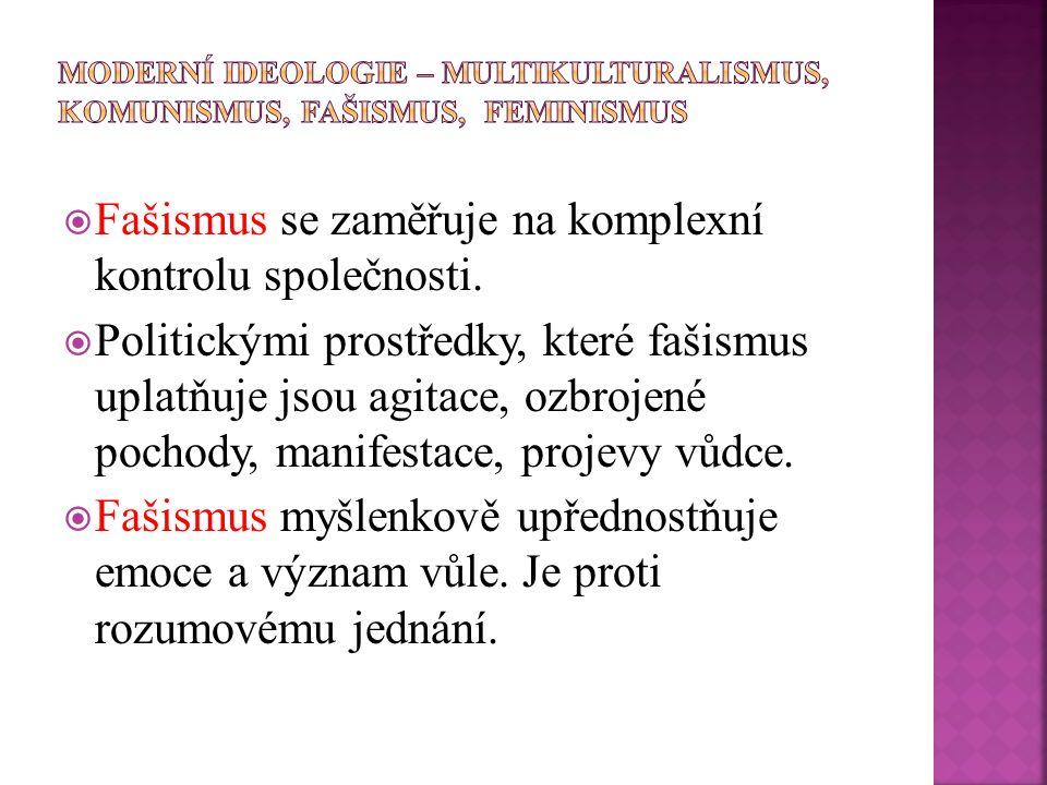  Rozlišujeme dva základní typy fašismu:  italský fašismus  německý nacismus (nacionální socialismus).