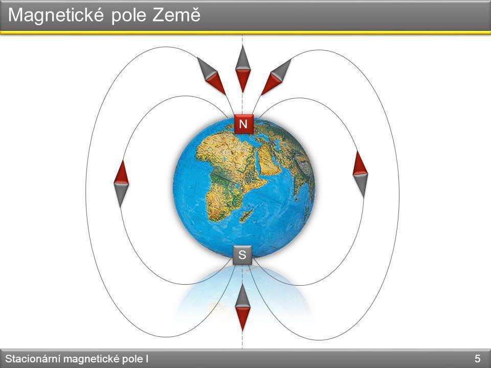 Hans Christian Oersted - André Marie Ampère Magnetické pole vodiče s proudem Stacionární magnetické pole I 6 1820 – souvislost magnetismu s elektrickým proudem I